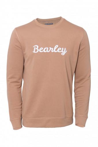 Bearley sweater met geborduurde tekst