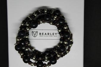 Bruin-zwarte kralen set (5 armbanden)
