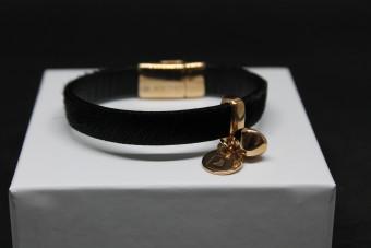 Zwart leervacht armband